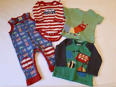 Frugi Organic Cotton Baby Boy Dungarees Vest T-Shirt Top Bundle 3-6 Months