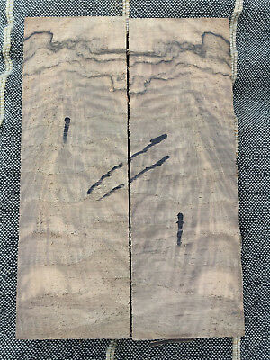English walnut burr / burl bookmatched knife scale / handle 150 x 50 x 25mm