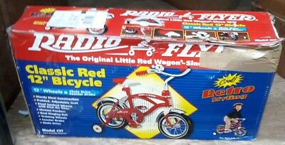 "Radio Flyer Classic Red 12"" Bicycle Model 37 - Retro Styling - Discontinued"