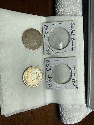 1853 Seated Liberty Quarter Dollar Stunning Coin!! With Extra 1853 Coin
