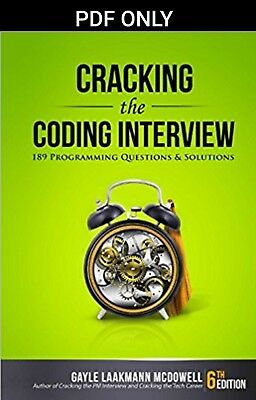 [PDF] Cracking the Coding Interview 6th Edition by Gayle Laakmann McDowell