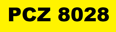 Pcz 8028 Private Cherished Number Plate Ideal Cover Plate
