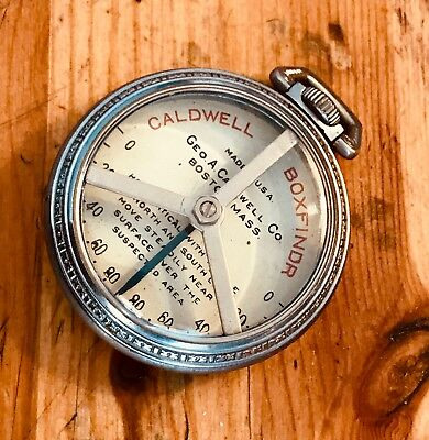Caldwell Box Finder pocket watch cased, magnetic/compass locator, rare!