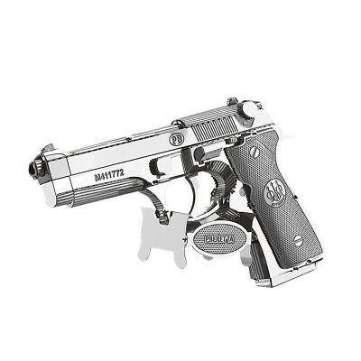 Beretta 92 Pistol Laser Cut Metal Model Kit  - 3D Puzzle