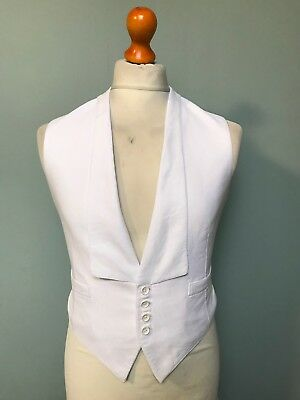 Vintage 1930's white tie marcella evening waistcoat size 36 long