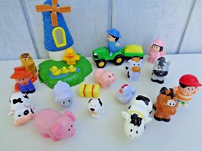 Farm Animals Toys Cow Pig Tractor Mill Horse Farmer Dog Hay Wife Chicken Duck