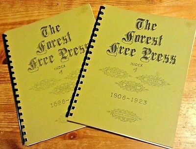 The Forest Free Press Index of Births, Deaths and Marriages 1898-1907, 1908-1923