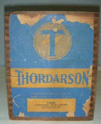 New Vintage In Box Thordarson T-6408 Filter Choke 23.6 H @ 250 MA 190 ohms 5000V