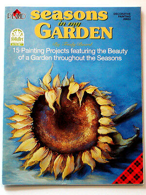 2002 Trudy Beard SEASONS In My GARDEN BOOK Decorative Painting PLAID 15 Projects