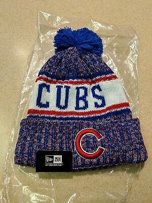 2018 CHICAGO CUBS New Era MLB Knit Hat On Field Sideline Beanie ... 038cce1a289