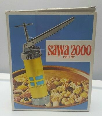 Vintage Sawa 2000 Deluxe Cooke Press Made In Sweden Complete 90's