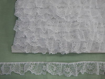 Gathered Lace White 10 metres (211)