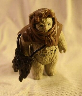 Vintage Starwars Ewok 1983 with Hood and Bag