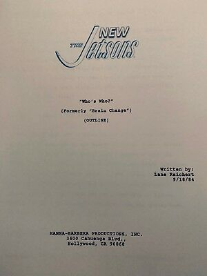 The New Jetsons - Rare 1984 Episode Script Outline - Hanna-Barbera Productions