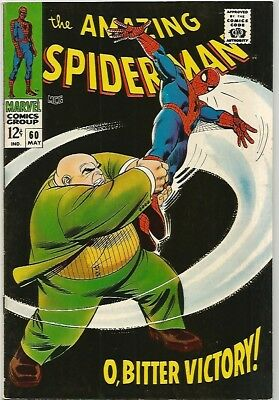AMAZING SPIDER-MAN # 60   Beautiful Early Silver Age  Nice VF7.5