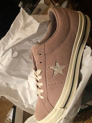 Converse One Star Suede OX Mens Low Top Shoes Taupe Silver/Grey 161539C Sz 9.5