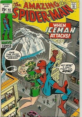 AMAZING SPIDER-MAN # 92   Beautiful Early Silver Age  NICE!