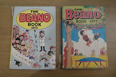 The Beano Book 1972 and 1977