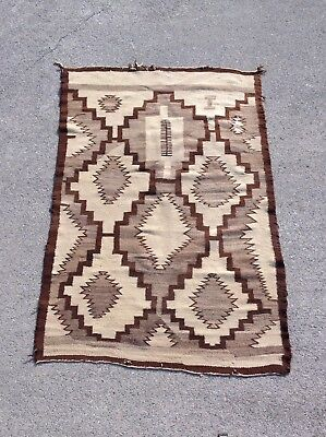 Navajo rug  38 1/2 '' x 57'' - Transitional Blanket / Rug