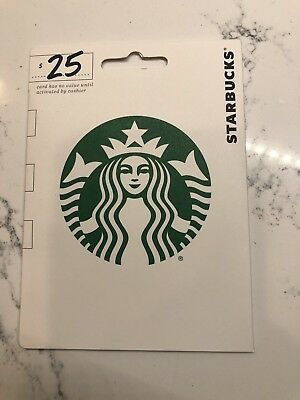 Starbucks Gift Card $25 Value - First Class Shipping - Delicious Coffee!