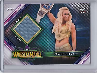 2019 Topps WWE Road to Wrestlemania 34 Mat Relic #MR-CF Charlotte Flair