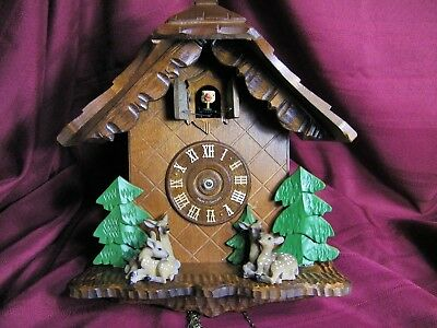 Black Forest Hand Carved Cuckoo Clock