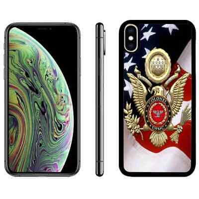 For iPhone 6 6s 7 8 plus Xr Xs max TPU Phone Case Cover US Marine Corps USMC