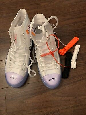NEW Converse Off White Chuck Taylor 70 Virgil Size 8.5