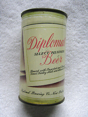 Antique Diplomat Steel Flat Top Beer Can New Britain Connecticut