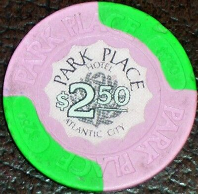 Old $2.50 PARK PLACE Casino Poker Chip Vintage Antique House Mold Atlantic City