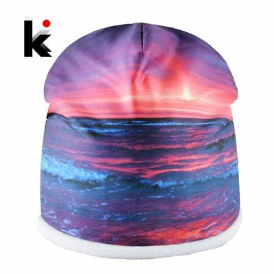Unisex Winter Hats For Men Warm 3D Printing Skullies Beanies Women Outdoor