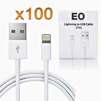 Lightning Apple USB iPhone & iPad Cables MFi   Charge + Sync, Lot of 100 (3ft)