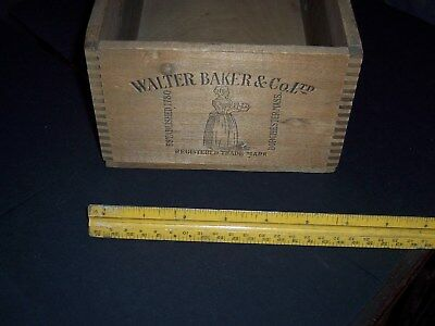 Old Small Wooden Crate Walter Baker & Co Chocolate 1900 Paris Dorchester Mass