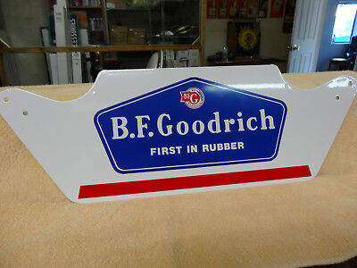 "Vintage ""b.f. Goodrich"" Metal Advertising Sign, Mint Condition, (Nos)"