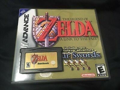 Nintendo GBA The Legend of Zelda A Link to the Past + Four Swords With Case