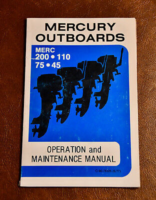 1977 Mercury Outboards Operation and Maintenance Manual