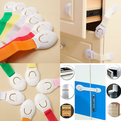Baby Child Cupboard Cabinet Safety Locks Pet Proofing Door Drawer Fridge Kid US