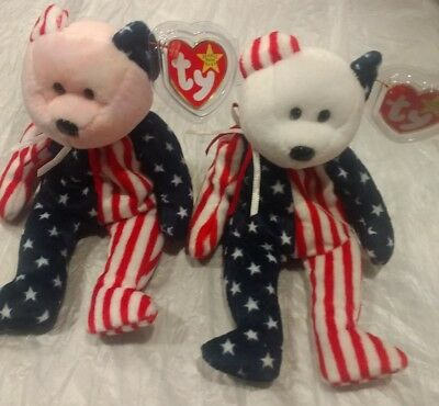 2 TY beanie babies, 1Mint Condition Authentic Spangle the Bear 1999 w/ tag error