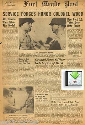 6 issues of 1943 Fort Meade Post - Fort George G. Meade, Maryland - PDF / CD