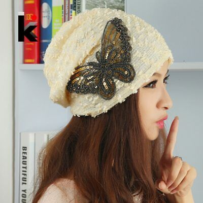 2018 New Fashion Autumn And Winter Caps For Women Beanies Butterfly Hood Turban