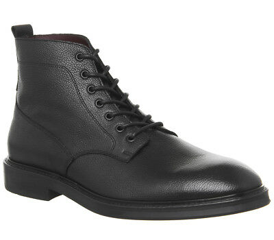 Mens Poste Idris Lace Boots Black Leather Boots