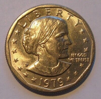 1979 P Susan B Anthony Dollar Wide Rim - Near Date Error