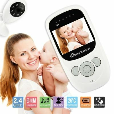 Wireless 2.4GHz Digital Color LCD Baby Monitor Camera Night Vision Audio Video.