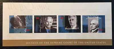 2009 Scott #4422 - 44¢ - SUPREME COURT JUSTICES - Sheet of 4 - Mint NH