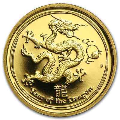Rare ! ~ 2012 ~ Proof 1/10 Gold Dragon ~ Only 5000  Minted ~ Coa & Box ~ $298.88