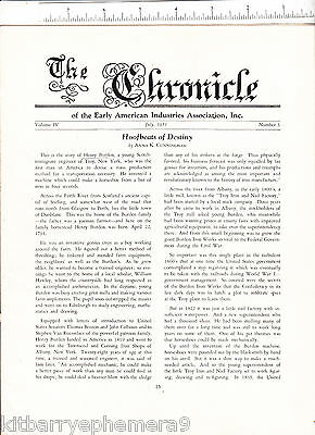 6028 The Chronicle of Early American Industries Association, 1951 magazine