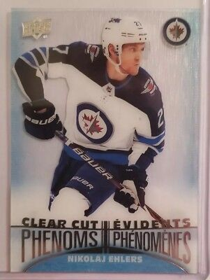 2018-19 UD Tim Hortons Hockey Cards Clear Cut Phenoms NIKOLAJ EHLERS CC-11