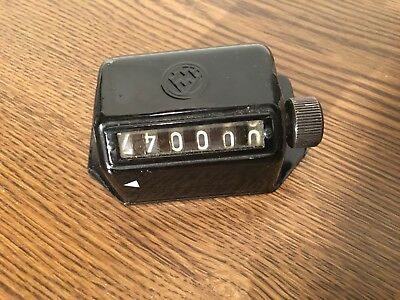 Vintage 6 Digit Mechanical Counter - Works - Unknown Brand