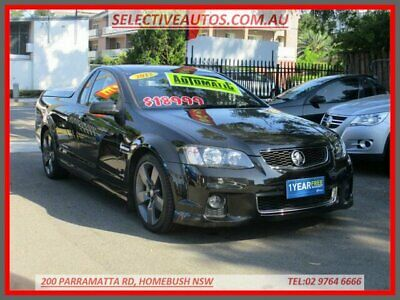 2012 Holden Commodore VE II MY12 SV6 Thunder Black Automatic 6sp A Utility