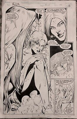 The Incredible Hulk Issue 424 original art DARICK ROBERTSON SIGNED 1994  pg 18